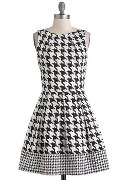 Audrey's Top of the A-line Dress in Houndstooth