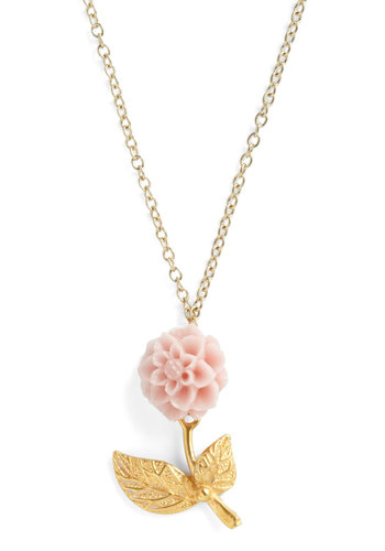 Most Beloved Bud Necklace - Pink, Gold, Casual, Fairytale, Pastel