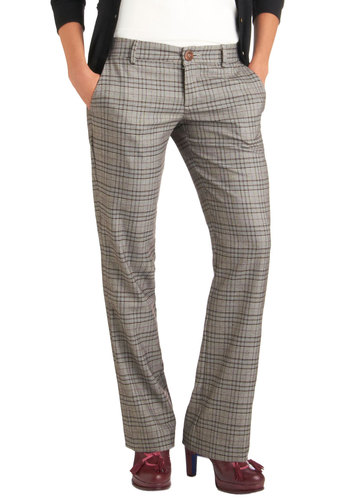 Revision for the Future Pants by Pink Martini - Brown, Plaid, Work, Pockets, Menswear Inspired, Fall, Scholastic/Collegiate