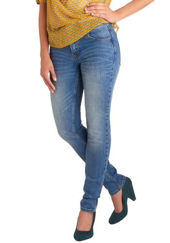 "Bold Stand-by Jeans (32"") - Blue, Pockets, Casual, Skinny, Denim"