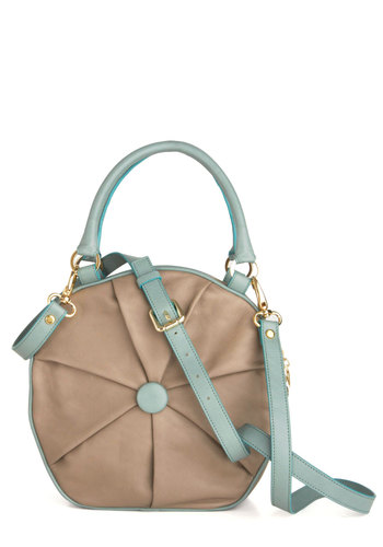 Thrilled to Pieces Bag - Cream, Blue, Luxe, Leather