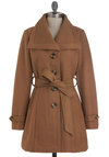 Camel, Saw, and Conquered Coat - Long, Brown, Solid, Buttons, Pockets, Belted, Long Sleeve, Winter, 4
