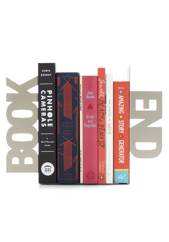 Literal Bookends by Present Time - Silver, Urban, Minimal, Variation, Better