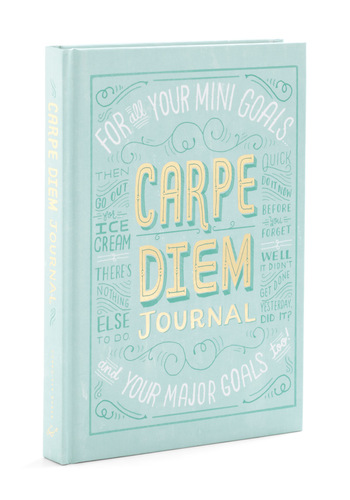 Carpe Diem Journal by Chronicle Books - Blue, Scholastic/Collegiate