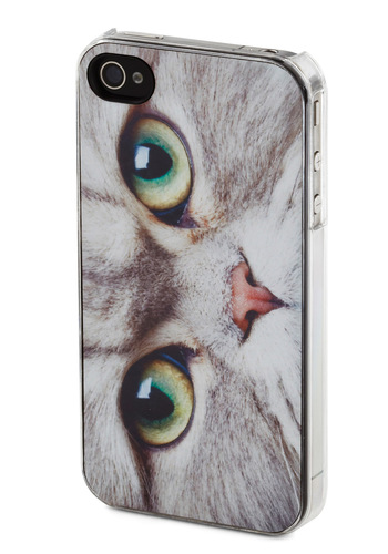 Cat Got Your Thumbs iPhone Case - Grey, Multi