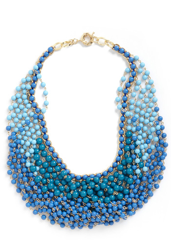 Statement of the Art Necklace in Azure - Blue, Statement, Party, Luxe, Daytime Party