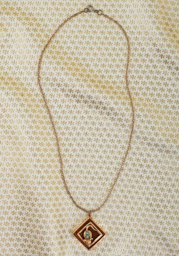 Vintage Wood as Gold Necklace