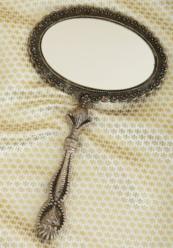 Vintage Peek Interest Mirror