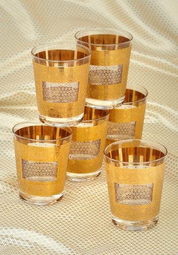 Vintage Fancy a Drink Glass Set