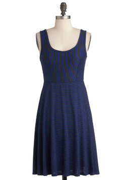 Cheer Up the City Dress in Royal Blue