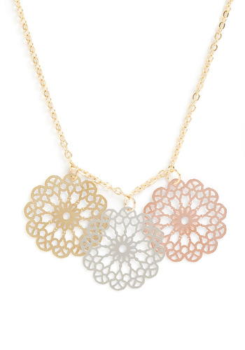 Pizzelle Perfect Necklace - Blue, Pink, Gold