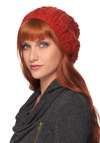 Pumpkin Spice Cake Hat by Wooden Ships - Orange, Knitted, Casual, Rustic, Winter