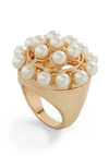 Pearl, Interrupted Ring - Gold, Party, Luxe, Cocktail, Holiday Party