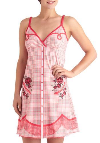 Wide Range of Dreams Nightgown by SugarPants - Red, Pink, White, Floral, Print