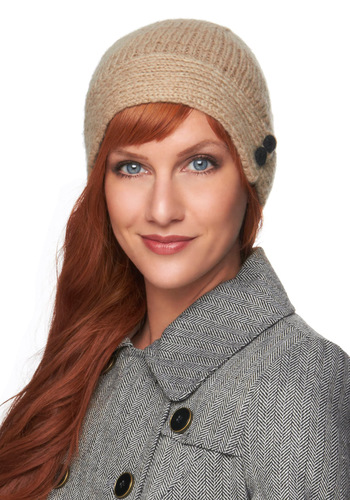 Polar Bear Swim Hat by Wooden Ships - Knitted, Casual, Winter, Tan / Cream