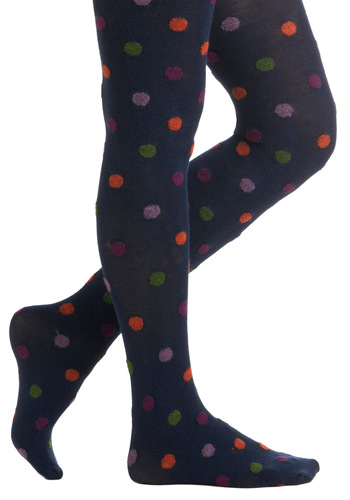 That Hit the Dot Tights - Multi, Polka Dots, Casual, Quirky, Winter