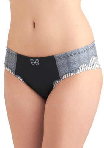 Paris is Waiting Undies - Grey, Print