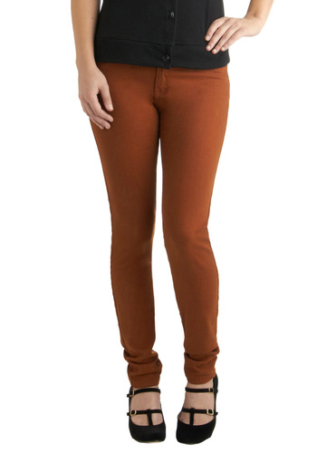 Fruit and Far Between Jeans in Pumpkin by Blank NYC - Orange, Solid, Pockets, Casual, Skinny, Denim, Fall, Variation