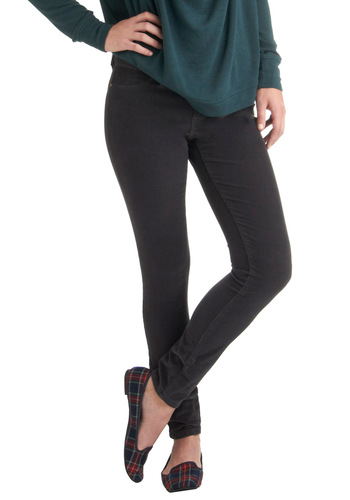 The Real Ideal Pants in Charcoal by Blank NYC - Grey, Solid, Pockets, Casual, Skinny