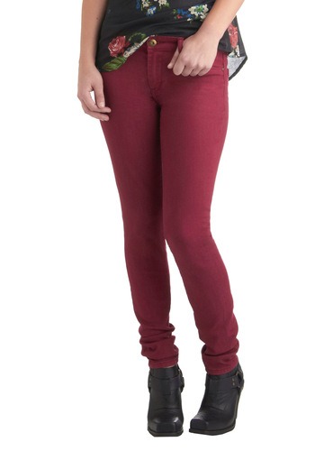 Fruit and Far Between Jeans in Rhubarb by Blank NYC - Red, Solid, Pockets, Casual, Skinny, Denim