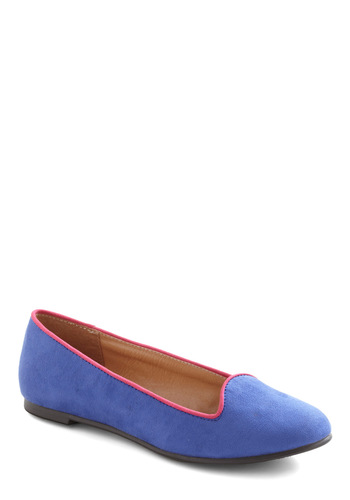 Berry Best Wishes Flat - Blue, Flat, Pink, Casual, Colorblocking, 90s, Faux Leather