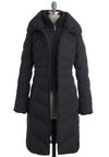 Ski Lift Your Spirits Coat - 5, Black, Pockets, Long Sleeve, Solid, Winter, Long