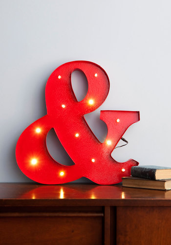Bathroom decor ampersand sign from Modcloth