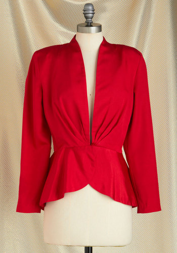 Vintage Bright and Cherry Blazer