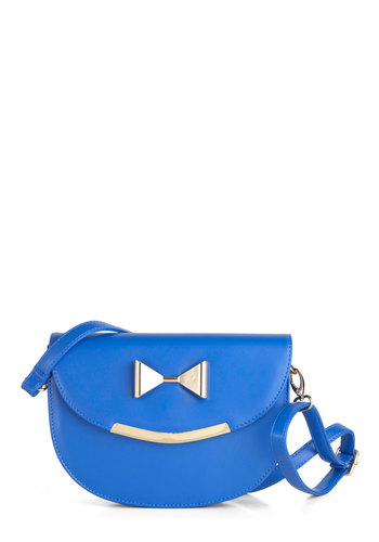Let's Hear It for the Bows Bag - Blue, Gold, Solid, Bows, Casual, Faux Leather