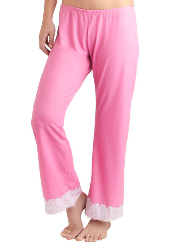 Never Enough Ruffles Sleep Pants - Red, Pink, White, Floral, Print