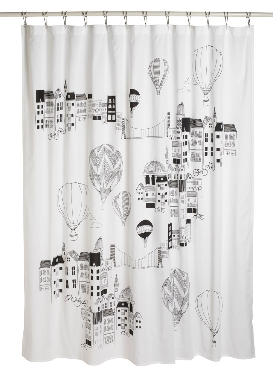 Vintage shower curtains - Shower Curtains Novelty Interior Design Ideas Small Space Gray