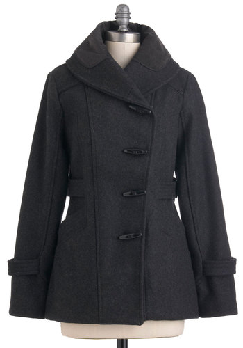 Granite State of Mind Coat - Long, Black, Solid, Long Sleeve, Pockets, 4, Casual