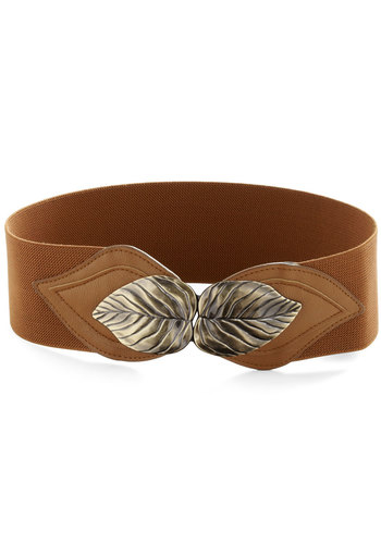 Can't Leaf It Be Belt - Brown, Gold