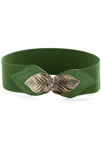 Can't Leaf It Be Belt in Green - Green, Solid