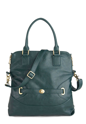 Jovial Jaunt Bag - Green, Solid, Buckles, Work