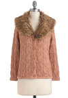 Stole My Affection Cardigan - Mid-length, Pink, Brown, Buttons, Knitted, Long Sleeve, Solid, Casual, Fall, Cotton, Button Down, Collared