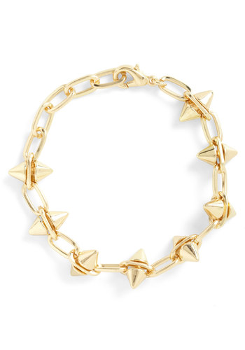 Another Thing Coning Bracelet - Gold, Solid, Studs, Urban, Party, Girls Night Out