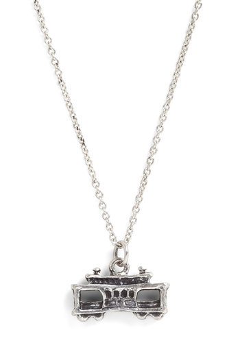 City by the Bay Necklace in Cable Car - Casual, Statement, Travel, Tis the Season Sale