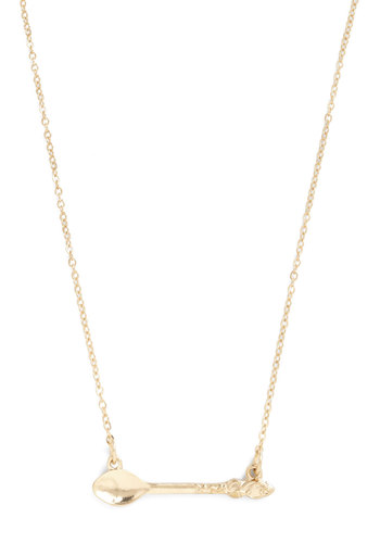 Spoonful of Sweet Necklace - Gold, Quirky