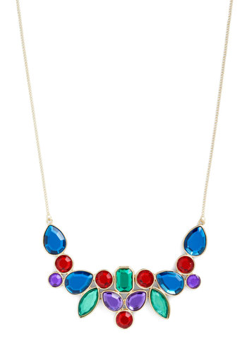 Quintessential Brilliance Necklace - Red, Green, Blue, Party, Statement, Cocktail, Holiday Party