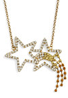 Swing on a Star Necklace - Gold, Party, Girls Night Out, Statement, Cocktail, Holiday Party, Tis the Season Sale