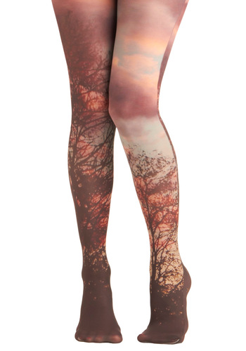 Lay of the Woodland Tights - Multi, Print, Statement, Quirky, International Designer