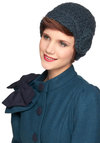Let's Make a Teal Hat by Wooden Ships - Blue, Flower, Knitted, 20s, 30s, Winter
