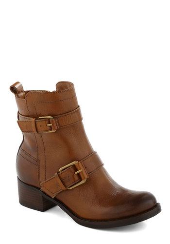 Made in the Faded Boot by Lucky - Solid, Buckles, Brown, Casual, Fall, Mid, Leather