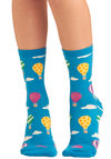 Having a Balloon Socks - Blue, Multi, Novelty Print, Knitted