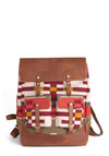 Pendleton Adventure Capital Backpack by Pendleton - Multi, Red, Green, Tan / Cream, Print, Buckles, Folk Art, Rustic, Leather, Scholastic/Collegiate, Travel