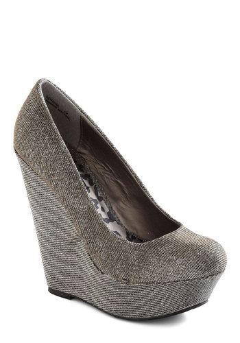 Walk and Roll Wedge in Pewter - Grey, Solid, High, Platform, Wedge, Party, Girls Night Out, Holiday Party, Variation