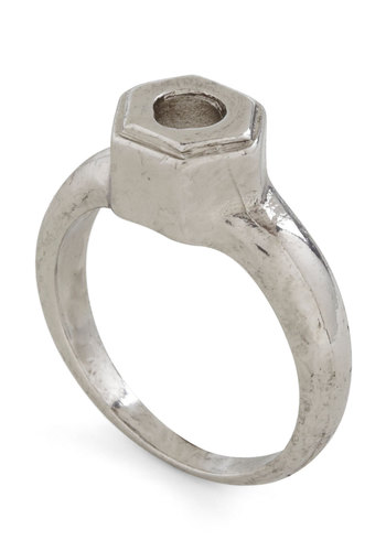 A Bolt Move Ring - Silver