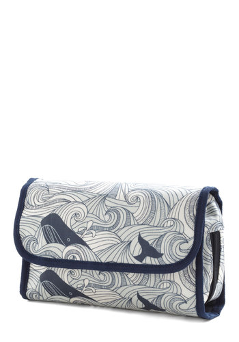 Swell Acquainted Travel Case - Multi, Blue, Travel, Quirky, Nautical, Cotton