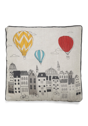Looking Up Pillow - Multi, Dorm Decor, Quirky, Novelty Print